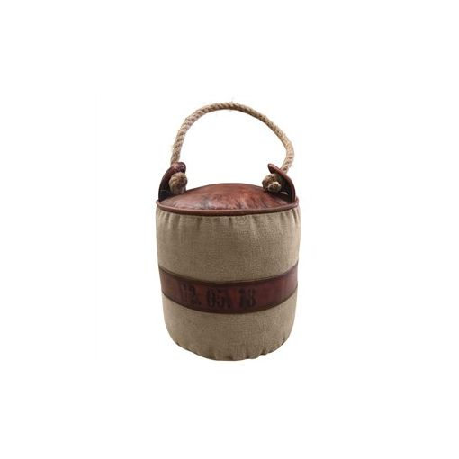 Munro Goat Leather and Canvas Round Door Stopper