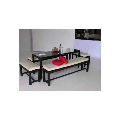 FIJI 7pcs Outdoor Daily Benches Setting
