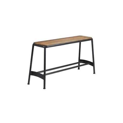 Hunston Metal High Bench with Timber Seat - Charcoal