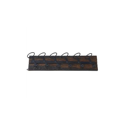 Leighton Solid Timber and Metal Wall Mounted Wine Rack