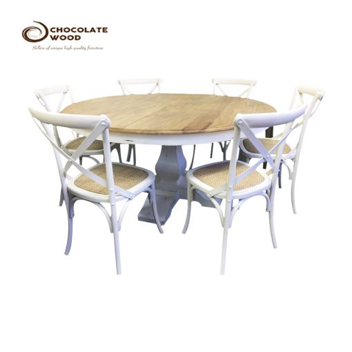 Cheap Online  Table + 6 x Cross Back Chair Package
