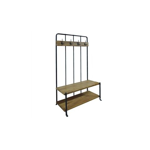 Mayfair Steel and Mango Wood Timber Hallway Stand