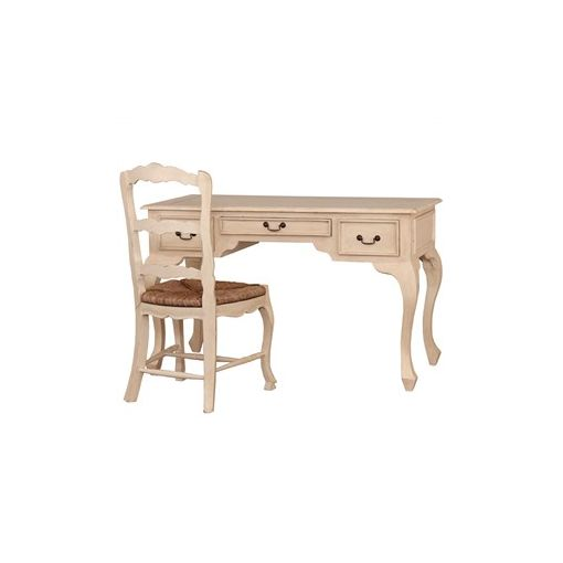 Modena Solid Mahogany Timber Ladies Writing Desk with Chair