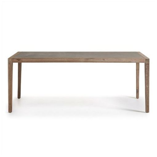 FARAH DINING TABLE - SOLID ACACIA TIMBER - SUPERSTONE TOP INDOOR/OUTDOOR 200CM