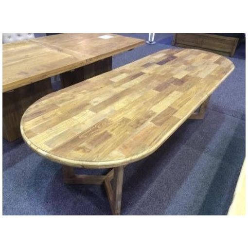 "Villy Recycled Elm Dining table ""Y"" shaped legs"