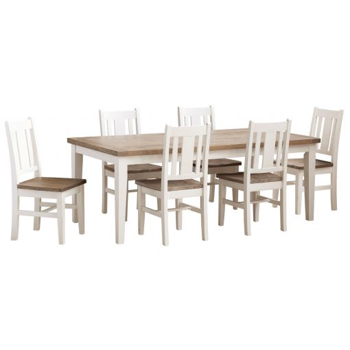 Romeo Two-Tone Rectangular Dining table 2.1M