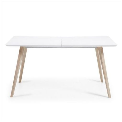 GAYLAN EXTENSION DINING TABLE - WHITE/ NATURAL 160 - 260 CM