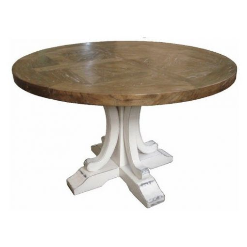 DISTRESSED FRENCH PROVINCIAL ROUND TABLE