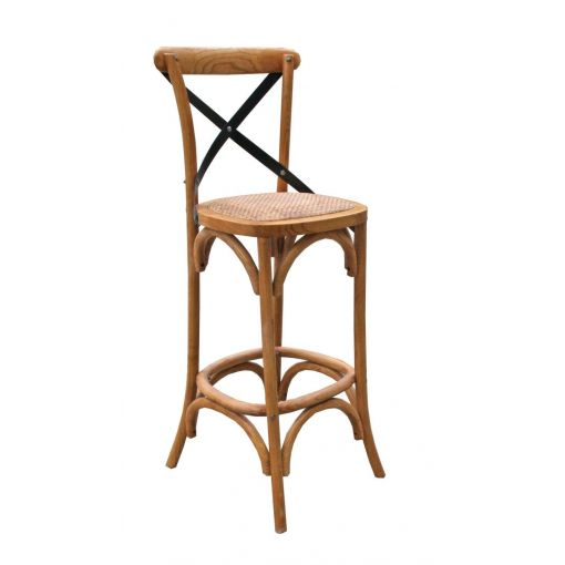 SET OF 2 DARBY BAR CHAIRS ELM 47 x 49 x 113 cms.