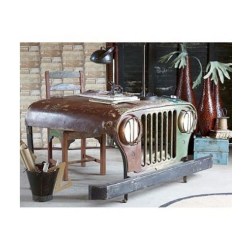 BANDAS JEEP DESK - VINTAGE - WITH WORKING HEADLIGHTS 145X75X90CM