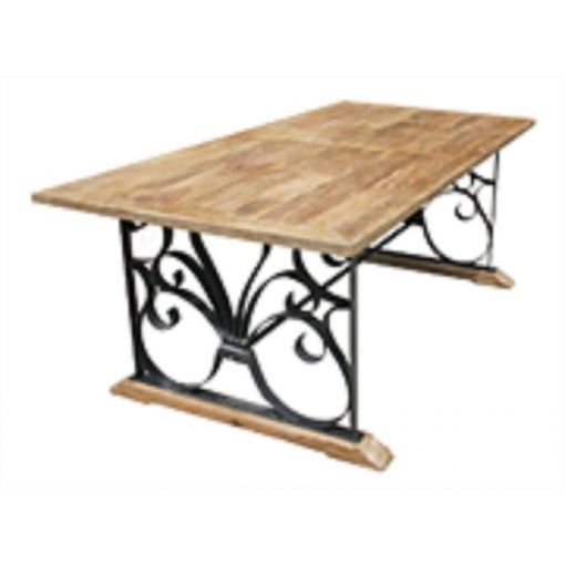 DON'S WROUGHT IRON & WOODEN DINING TABLE