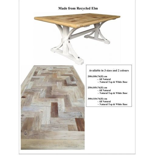 Recycled Elm Dining table - BENSON