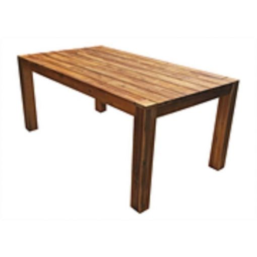 WIMBELDON DINING TABLE - MADE FROM ACACIA WOOD WITH A VINTAGE TEAK LOOK