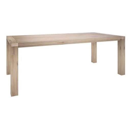 LOBSTER BAY 1.8M DINING TABLE - ACACIA HARDWOOD TIMBER - ASH FINISH