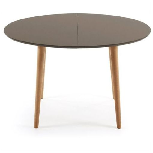 MILO EXTENSION OVAL DINING TABLE - BROWN/NATURAL - 120 - 200cm