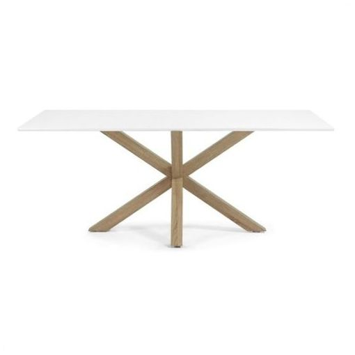 BROMLEY DINING TABLE - RECTANGULAR - WHITE/NATURAL