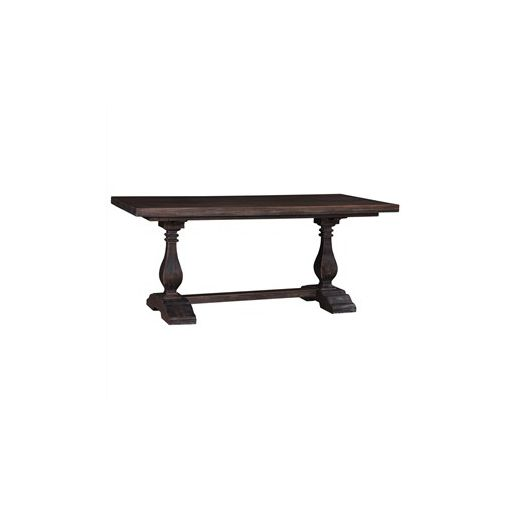 Calverton Solid Mahogany Timber 180cm Dining Table - Distressed Cocoa