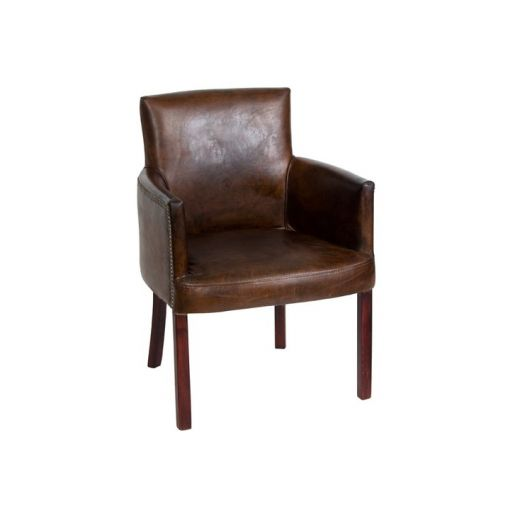 INTIMA Aged Leather Arm Chair