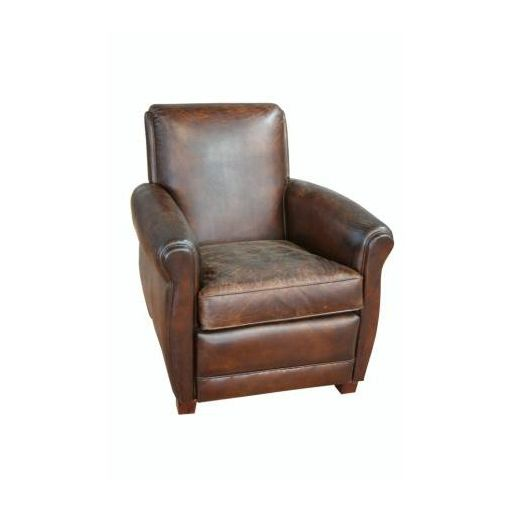 HILBERT Aged Leather Arm Chair