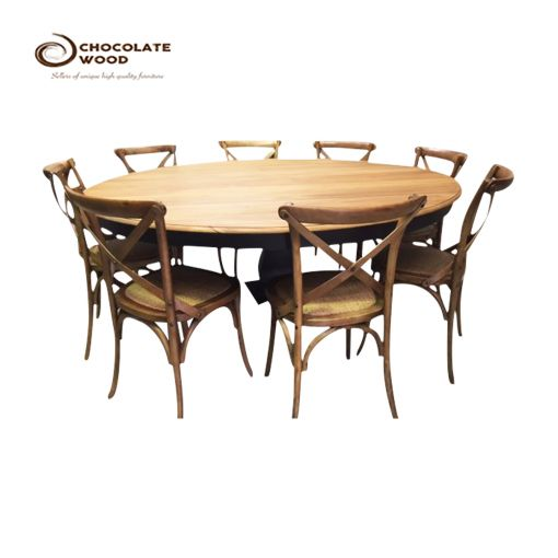 Buy Online Pedestal Base Timber Dining Trestle