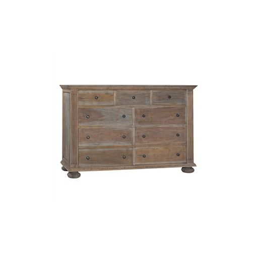 Christy Solid Mahogany Timber 9 Drawer Chest