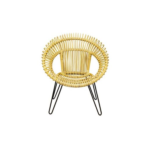 Rosaline Hand Woven Rattan Leisue Chair - Natural