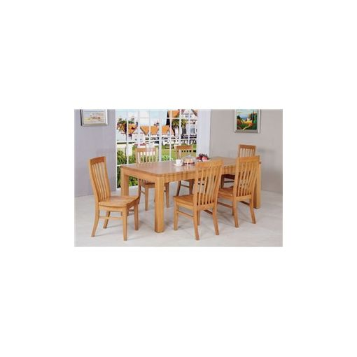 Moselia Solid Victorian Ash Timber 210cm Dining Table (Table Only)