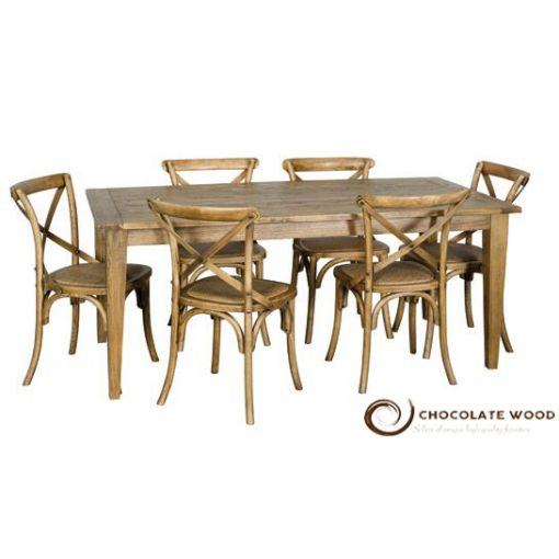 Online Sale Dining Table  Crossback Chair Package