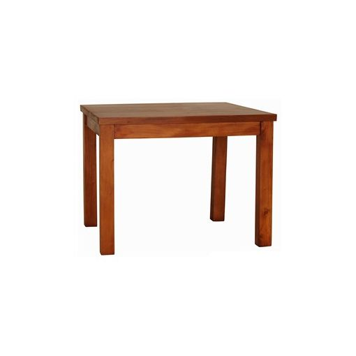 RPN Solid Mahogany Timber 100cm Sqaure Dining Table - Light Pecan