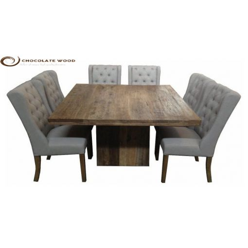 Cheap Online Dining Table + Linen Chair Package
