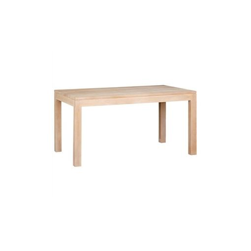 Amsterdam Solid Mahogany Timber Dining Table, 150cm, White Wash