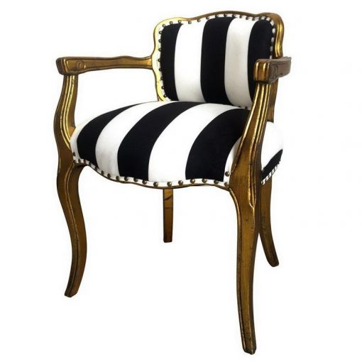 BUY ONLINE STRIPED WINGED ARM CHAIR