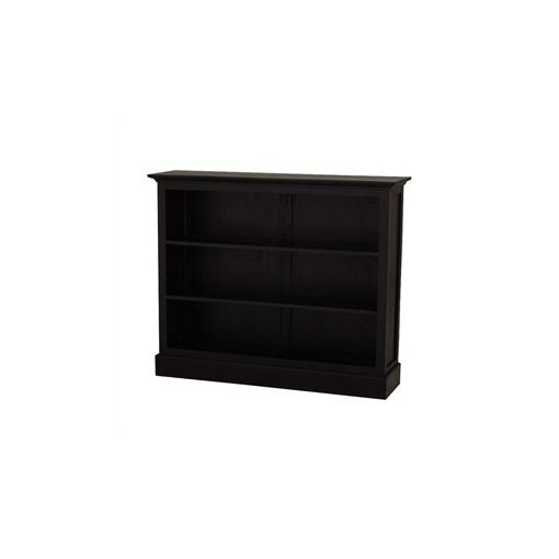 Adolf Solid Mahogany Timber Double Shelf Low Bookcase - Chocolate