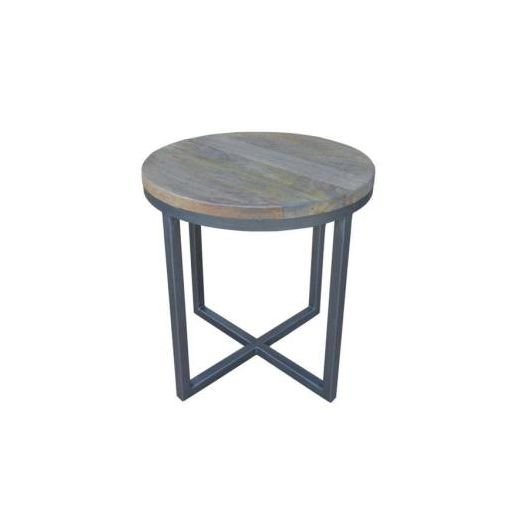 BYRON ROUND SIDE TABLE 50DIAX51CM-DISTRESS NATURA
