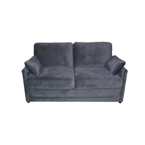 SOFTEE FABRIC DOUBLE SOFA BED 169X91X96CM PEPPER