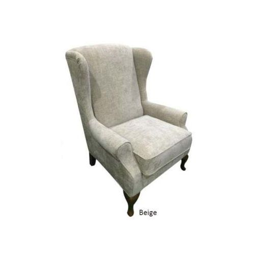 CHARLES WING CHAIR 82*88*115-BEIGE