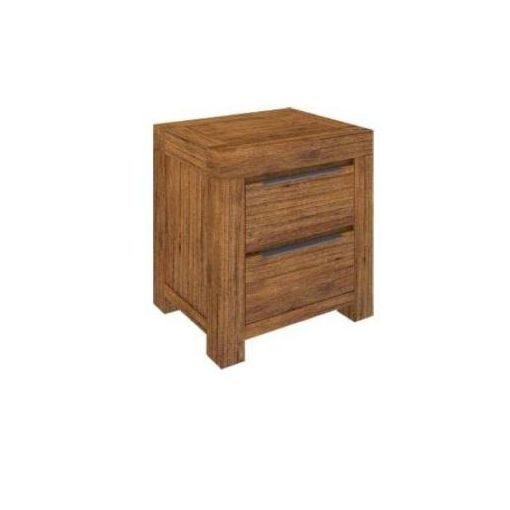 ALPINE BEDSIDE WITH 2 DRWS-GOLDEN WALNUT