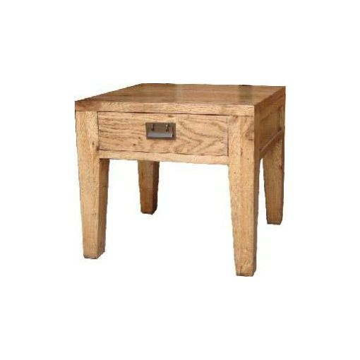 BARISTA END TABLE 1 DRW 55X55X50 OAK NEW