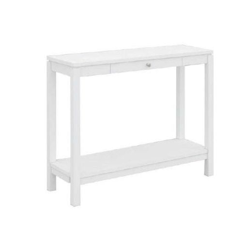 CUBIST HALL TABLE WITH 1 DRW (K/D) 100X35X80CM-WHI