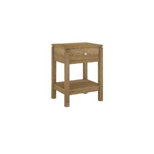 CUBIST BEDSIDE TABLE 45X37X60CM-NATURAL