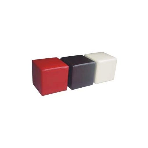 CUBE OTTOMAN 40X40X40 RED