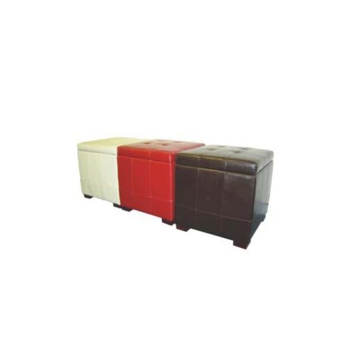 PANDORA STORAGE OTTOMAN 48X40X48 RED