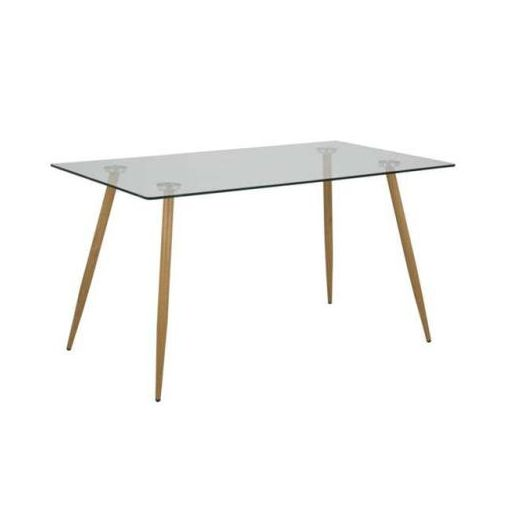 WESLEY DINING TABLE 140X80X75CM-GLASS TOP 2 CARTON