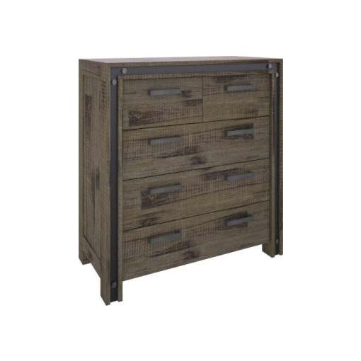 WAREHOUSE TALL BOY 2 OVER 3 DRAWERS- 105X45X110CM