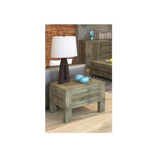 YARRA LAMP TABLE W/ 1DRW 60X60X45CMS