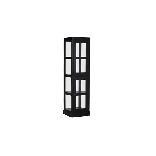 Carr Solid Mahogany Timber 2 Door Square Display Cabinet - Chocolate