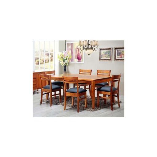 Casarano Solid Blackwood Timber 210cm Dining Table (Table Only)
