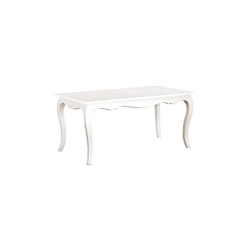 Mervent Solid Mahogany Timber 160cm Dining Table - White