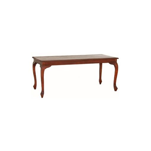 Queen Ann Solid Mahogany Timber 180cm Dining Table - Mahogany