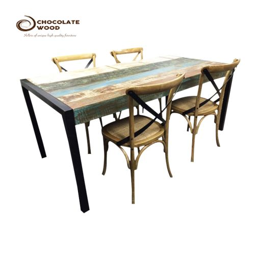 Buy Online industrial Timber Dining Table+4 chairs